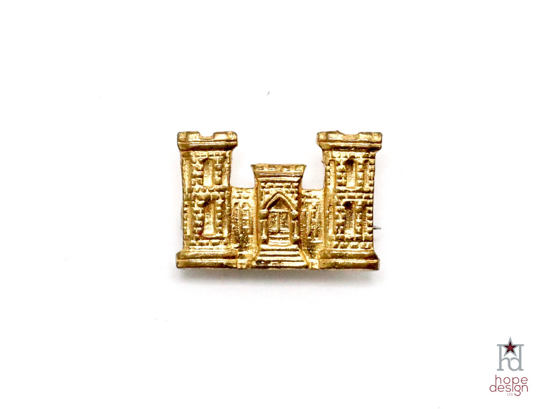 WWII-era Vintage Sweetheart Pin | Army Engineer VB85