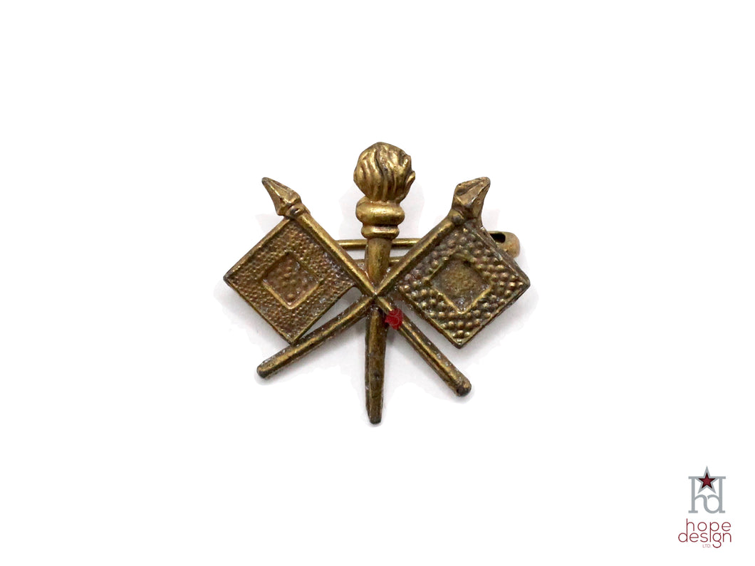WWII-era Vintage Sweetheart Pin | Army Signal Corps VB87