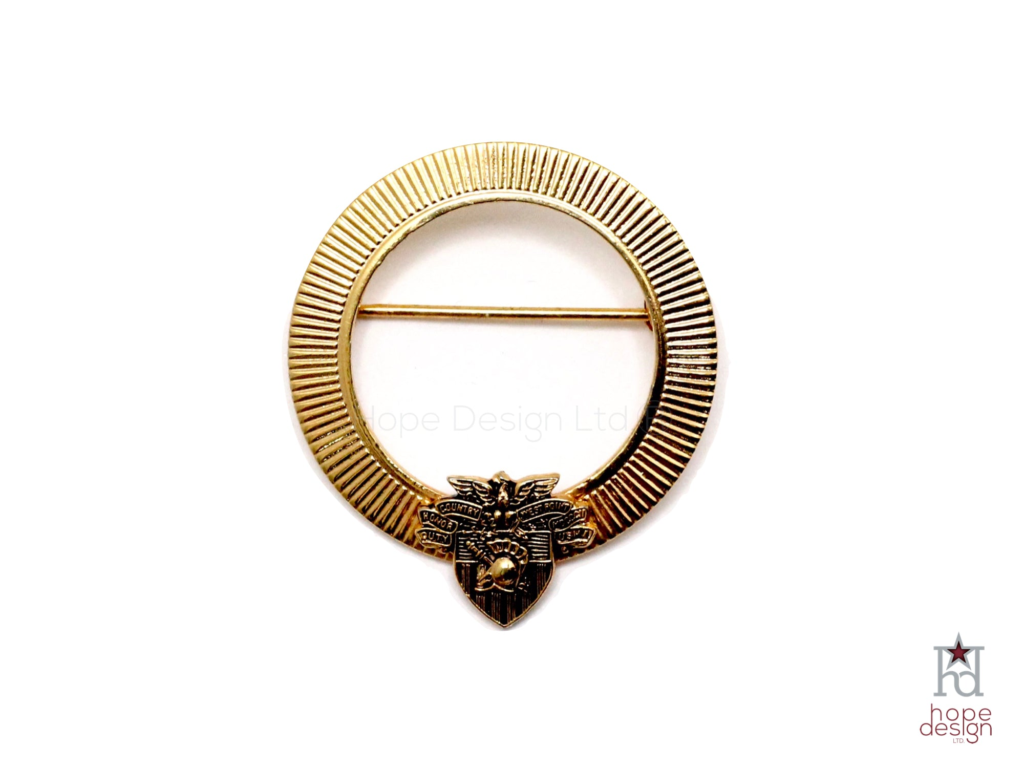 Vintage Army West Point Pin | USMA Crest Brooch VB93