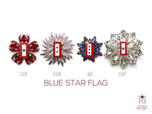 Load image into Gallery viewer, Blue Star Flag Brooch
