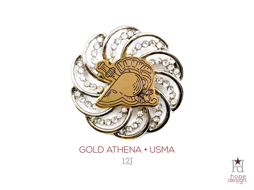 West Point Athena Gold Brooch