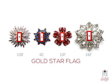 Load image into Gallery viewer, Gold Star Flag Brooch