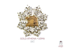 Load image into Gallery viewer, West Point Athena Gold Brooch