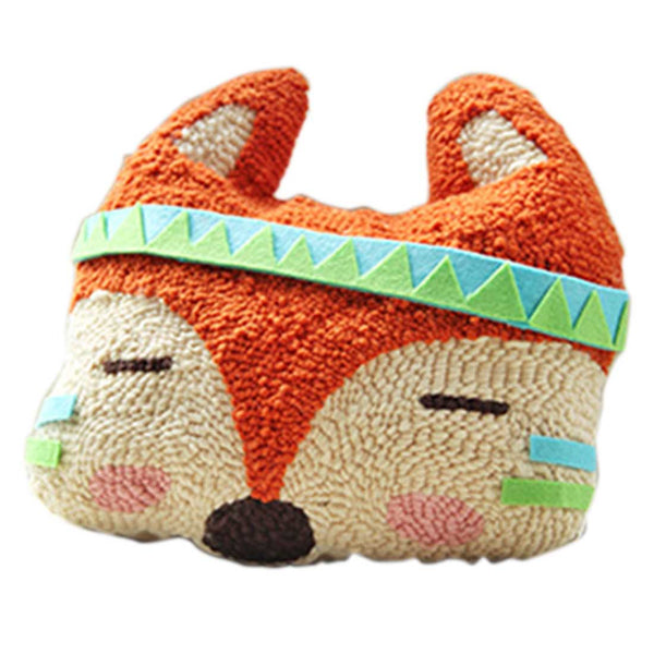 DIY Knitting Wool Rug Hooking Kit Handcraft Woolen Embroidery Creative Gift with Knitting Wool / Cotton / Tool - Fox Doll