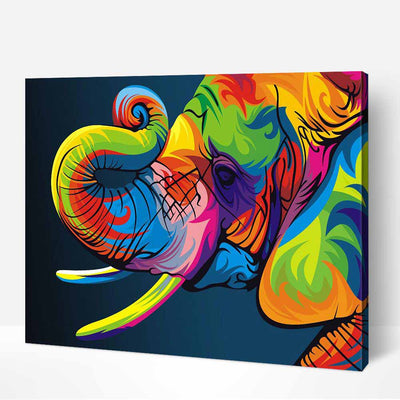Colorful Elephant -40*50cm Paint by Numbers For Adults Beginner - idiypaint