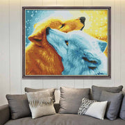 Two Snow Fox -  DIY Cross Stitch Kits - idiypaint