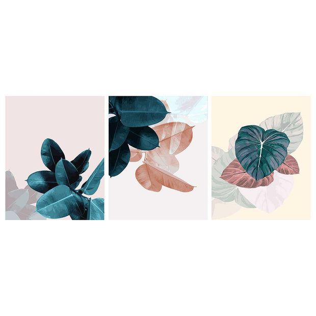 Green Leaves -3pcs 40 x 50cm DIY Painting by Numbers Sets with Frame for Home Decor - idiypaint