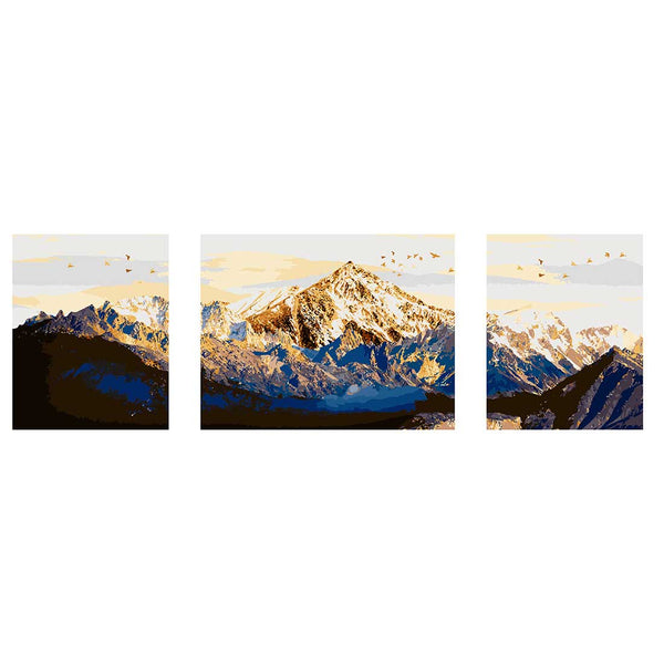 Mount Fuji -3pcs 40 x 50cm DIY Painting by Numbers Sets with Frame for Home Decor - idiypaint