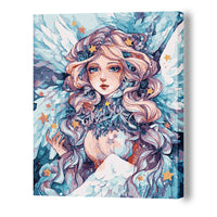 Flower Feast Girl-40*50cm DIY Paint by Numbers Kits - idiypaint