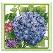 Hydrangea -  DIY Cross Stitch Kits - idiypaint