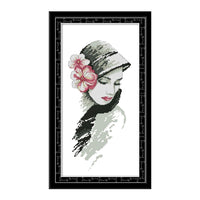 Beautiful Women With Flowers-  DIY Cross Stitch Kits - idiypaint