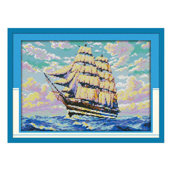 Sailng-  DIY Cross Stitch Kits - idiypaint