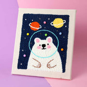 Polar Bear DIY Rug Hooking Punch Needle Embroidery Hand Craft - idiypaint