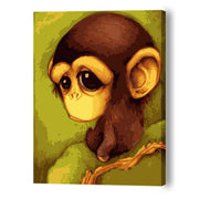 Sad Little Monkey-30*40cm Paint by Numbers For Adults Beginner - idiypaint