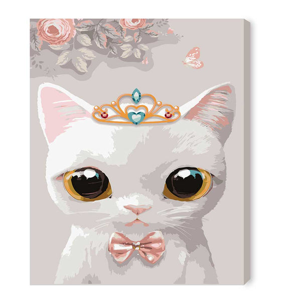 Cute Cat (One)-40*50cm DIY Paint by Numbers Kits with Frame for Wall Decoration - idiypaint