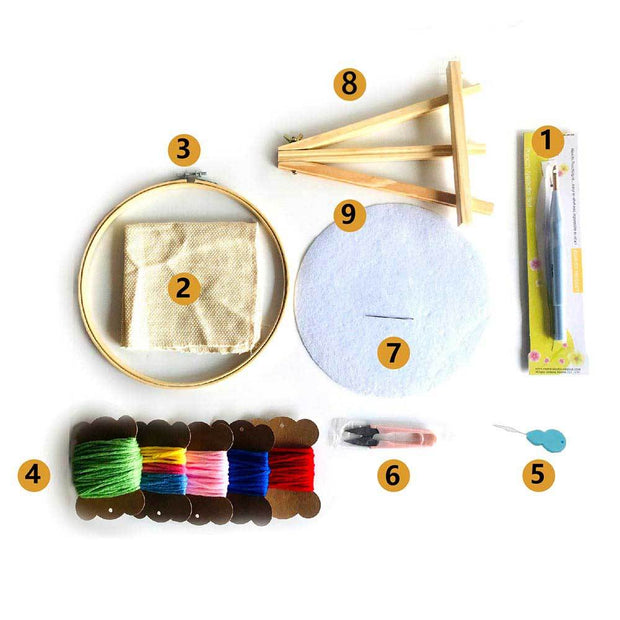 Little Monster Love DIY Rug Hooking Punch Needle HandCraft - idiypaint