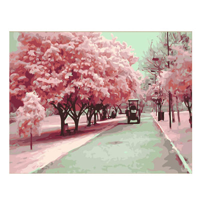 Pink Avenue-40*50cm DIY Paint by Numbers Kits - idiypaint