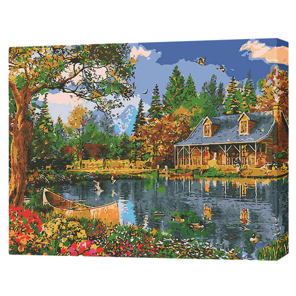Lakeside Cottage-40*50cm DIY Paint by Numbers Kits - idiypaint