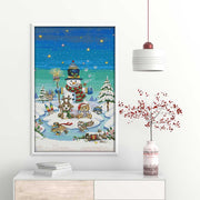 Snowman Landscape -  DIY Cross Stitch Kits