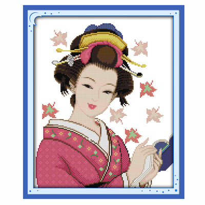 Geisha -  DIY Cross Stitch Kits - idiypaint