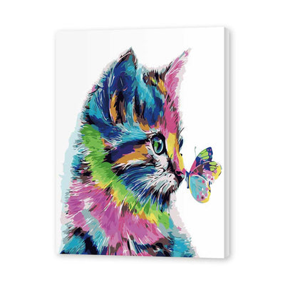 Cat and Butterfly-40*50cm DIY Paint by Numbers Kits - idiypaint