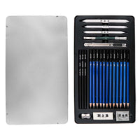 23Pcs Art Sketching Drawing Pencils Set Drawing Art Tools Kit - idiypaint