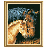 Mother Horse -40*50cm DIY Paint by Numbers Kits - idiypaint