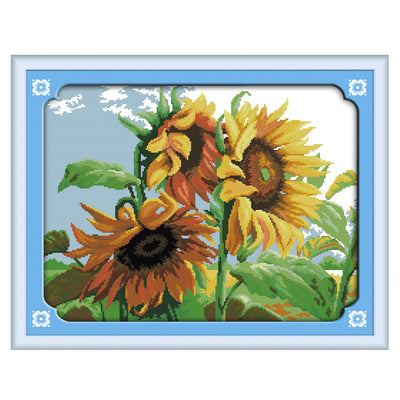 The Sunflowers in the Wind -  DIY Cross Stitch Kits - idiypaint