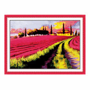 Lavender Garden -  DIY Cross Stitch Kits - idiypaint
