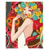 Curly Hair Girl-40*50cm DIY Paint by Numbers Kits - idiypaint