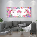 DIY Painting by Numbers Sets 3Pcs Unicorn 40 x 50cm - idiypaint