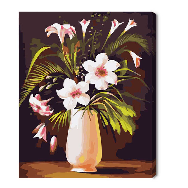 Flowers and Plant-30*40cm Paint by Numbers with Frame for Wall Decoration - idiypaint