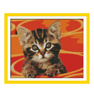 Pot Kitten -  DIY Cross Stitch Kits - idiypaint