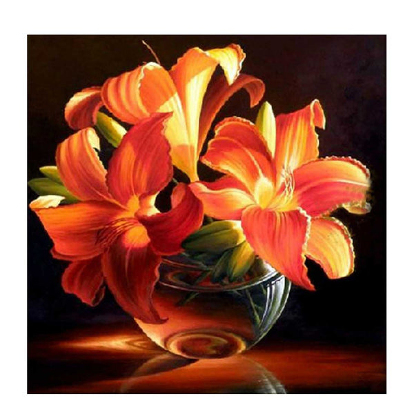 Golden Lily- DIY 5D Diamond Painting - idiypaint