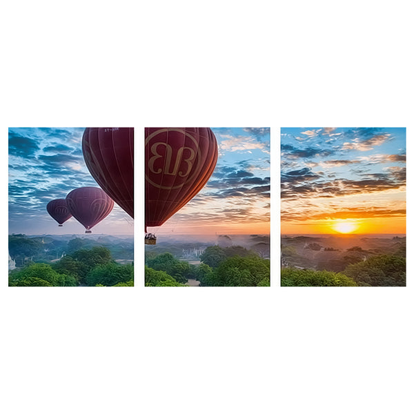 3Pcs sets Hot Air Balloon-40 x 50cm DIY Painting by Numbers Sets For Adults Beginner - idiypaint