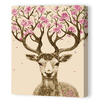 Deer and Flower-40*50cm DIY Paint by Numbers Kits - idiypaint