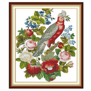 Parrots and Flowers -  DIY Cross Stitch Kits - idiypaint