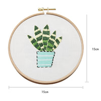 15 x 15cm DIY Counted Cross Stitch Embroidery Starter Kit with Hoop -  Abram Tiger - idiypaint