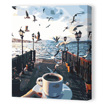 Afternoon Coffee-40*50cm Paint by Numbers For Adults Beginner - idiypaint