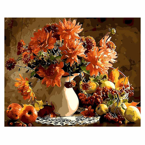 Flowers and Fruits-40*50cm DIY Paint by Numbers Kits - idiypaint