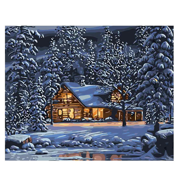 Snowhouse-40*50cm DIY Paint by Numbers Kits - idiypaint