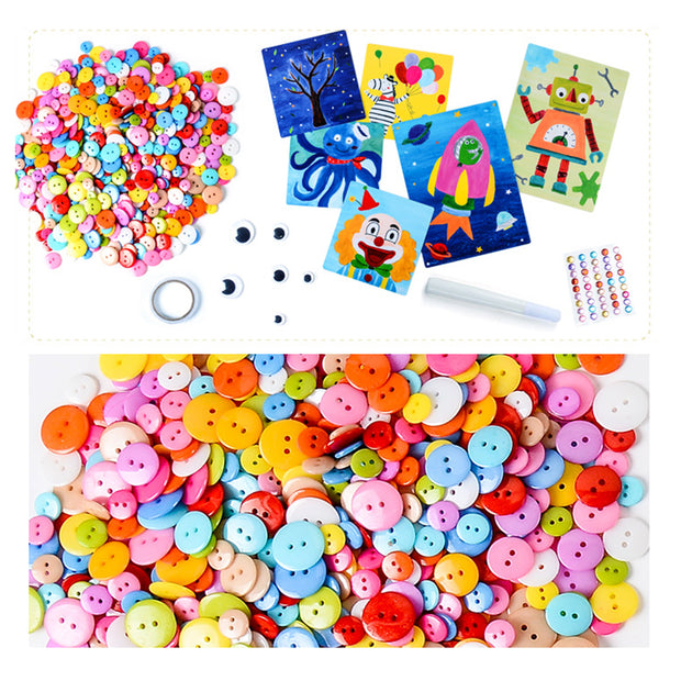 DIY Creative Button Painting Book Craft Educational Toys for Children - Boys Version - idiypaint