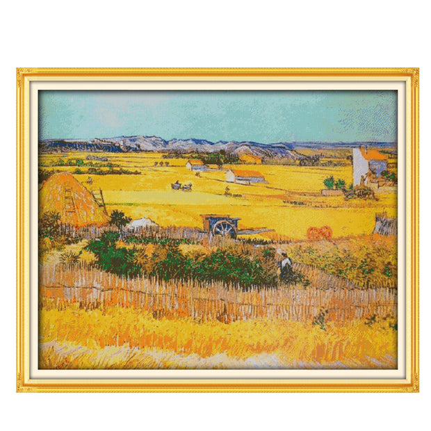 Cornfield-  DIY Cross Stitch Kits - idiypaint