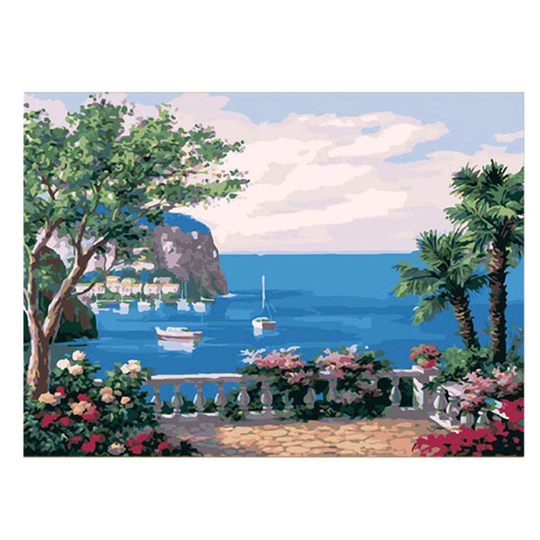 The Sea Garden-40*50cm Paint by Numbers For Adults Beginner - idiypaint