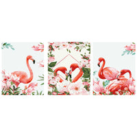 Love of Flamingo -3pcs 40 x 50cm DIY Painting by Numbers Sets with Frame for Home Decor - idiypaint