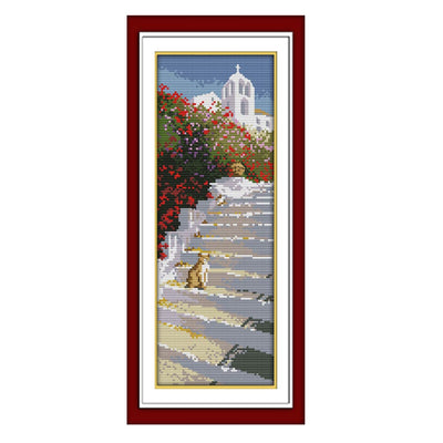 Santorini-  DIY Cross Stitch Kits - idiypaint