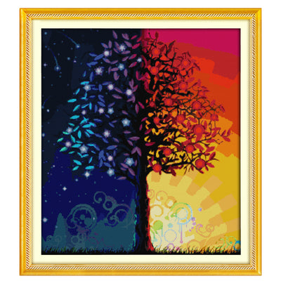 Life Tree-  DIY Cross Stitch Kits - idiypaint