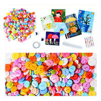 DIY Creative Button Painting Book Craft Educational Toys for Children - Girl Version - idiypaint