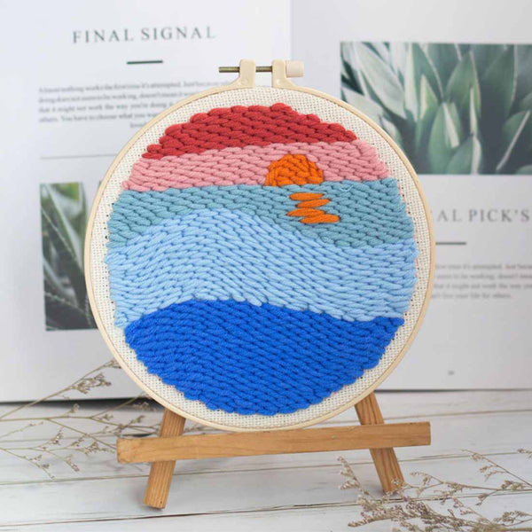 Sunrise DIY Rug Hooking Punch Needle HandCraft - idiypaint