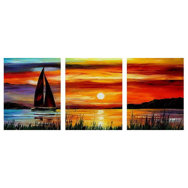 3Pcs set Sunset-40 x 50cm DIY Painting by Numbers Sets For Adults Beginner - idiypaint